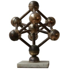 Midcentury Desk Model of the 'Atomium' Building
