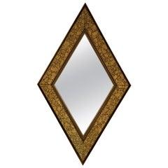 Midcentury Diamond Form Mirror