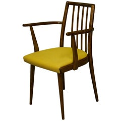Midcentury Dining Chair with Mustard Cushion by Jiri Jiroutek