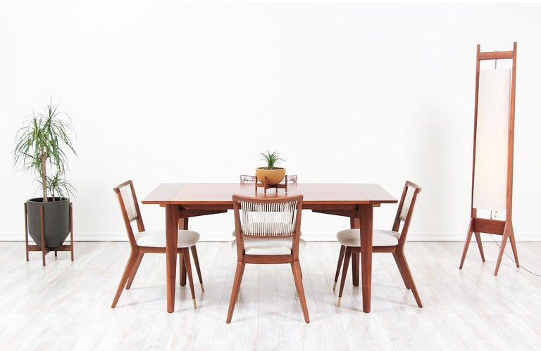 Midcentury Dining Chairs by John Keal for Brown Saltman In Excellent Condition For Sale In Los Angeles, CA