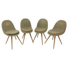 Midcentury Dining Chairs, Designed by Frantisek Jirák for Tatra Pravenec