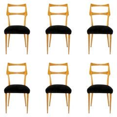 Midcentury Dining Chairs Ico Parisi, Italy