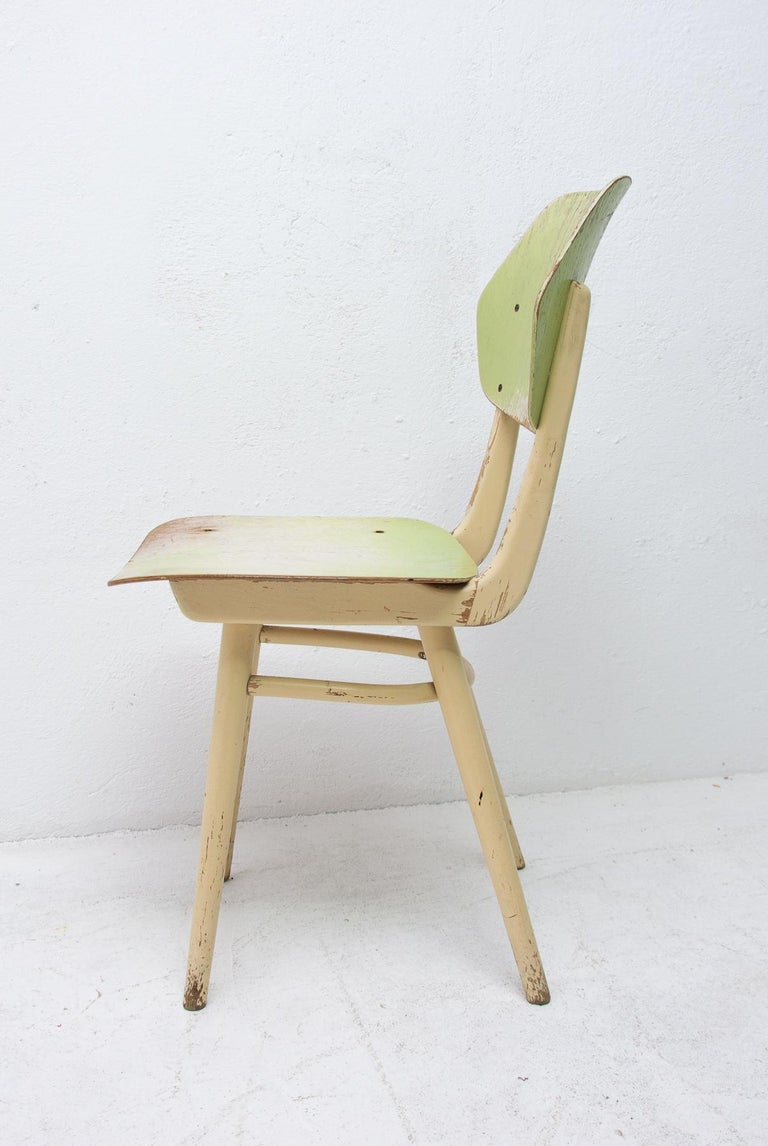 Midcentury Dining Chairs TON, Set of Four, 1960s For Sale 5
