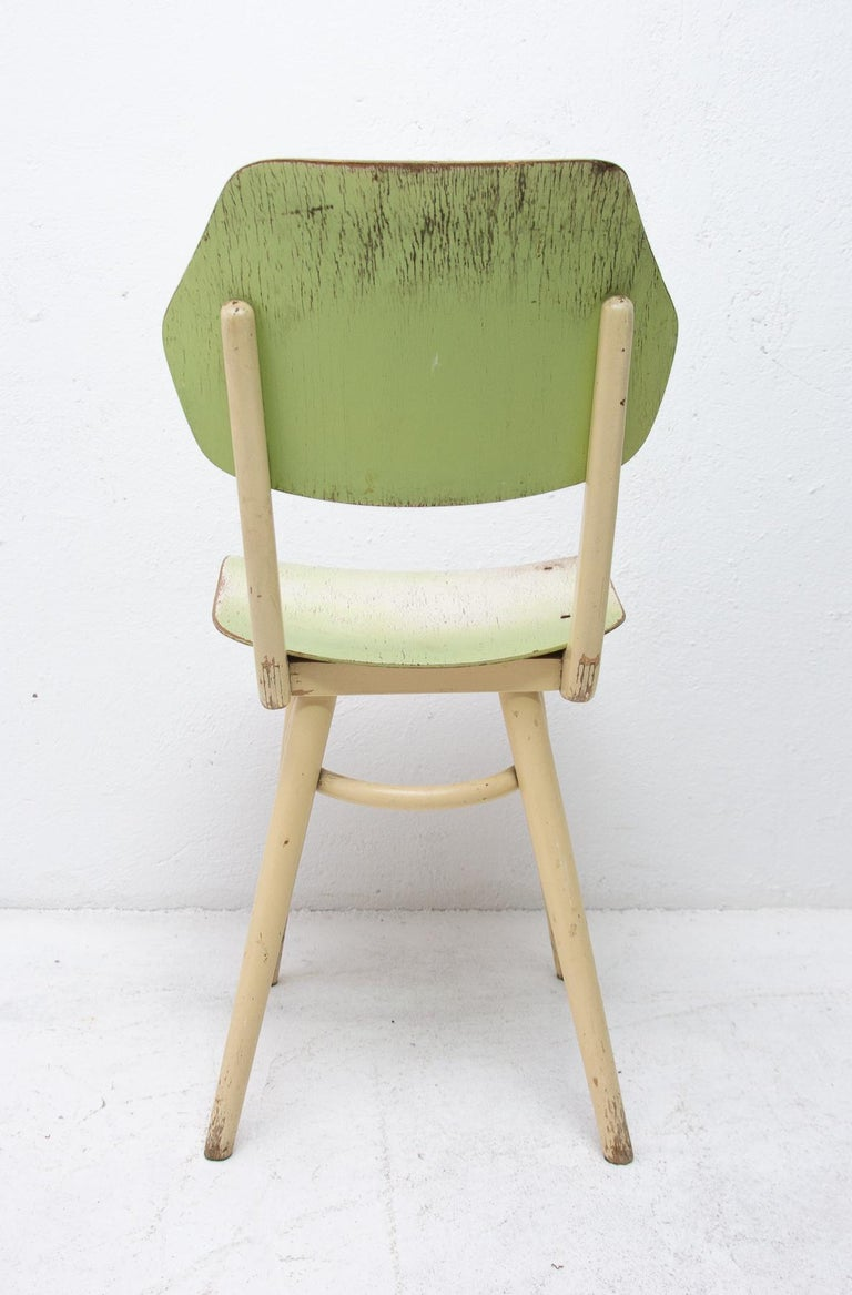 Midcentury Dining Chairs TON, Set of Four, 1960s For Sale 6