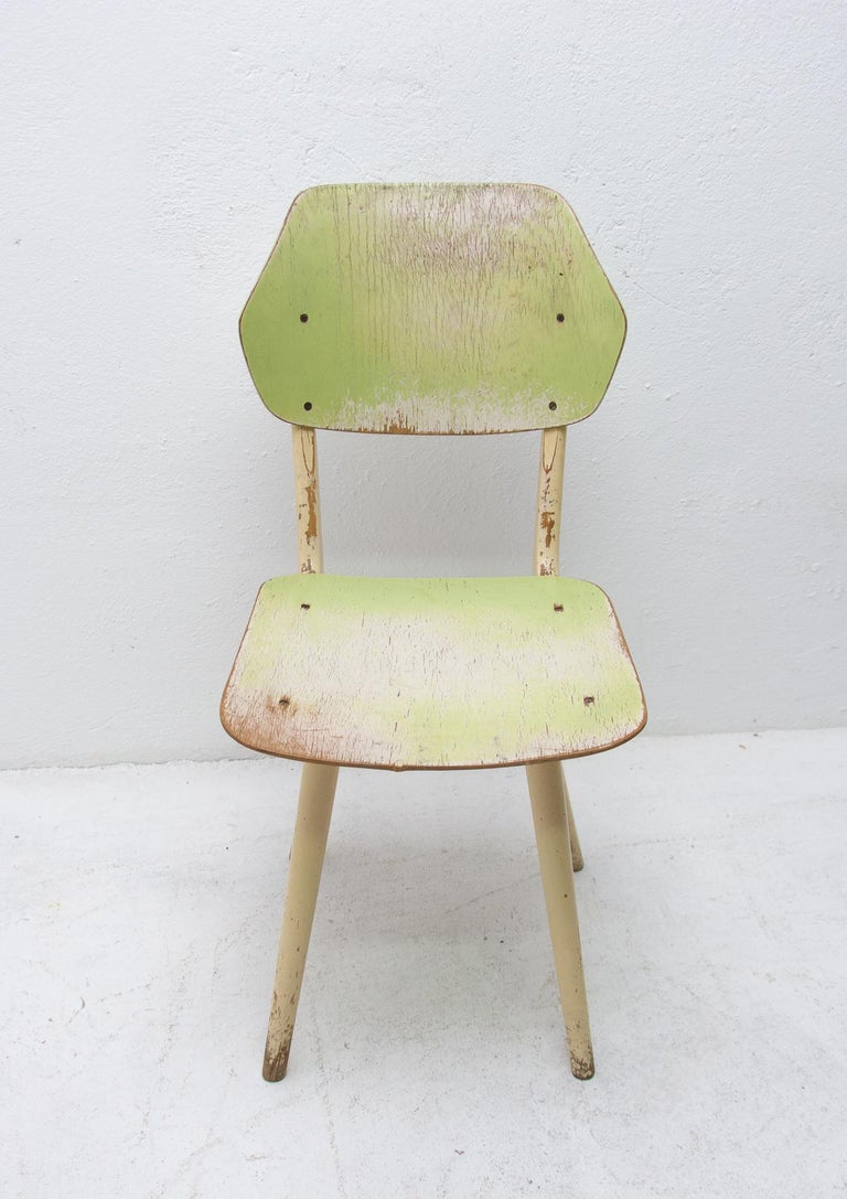 Wood Midcentury Dining Chairs TON, Set of Four, 1960s For Sale