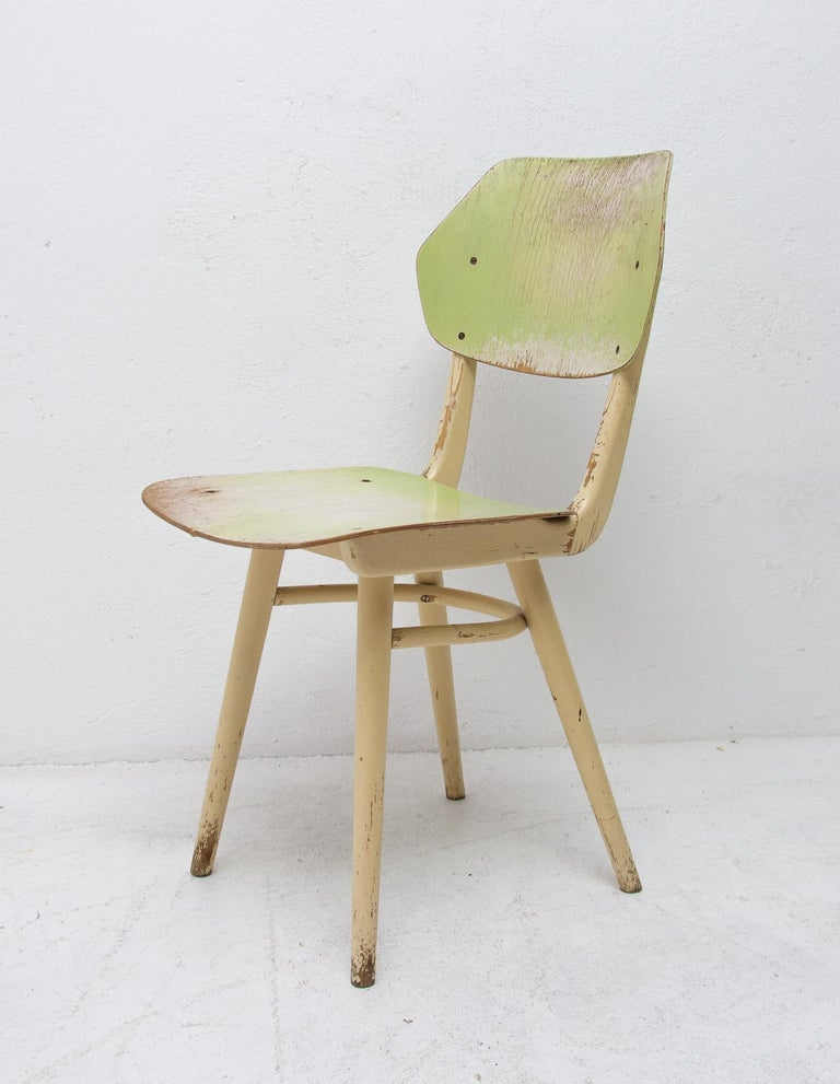 Midcentury Dining Chairs TON, Set of Four, 1960s For Sale 1