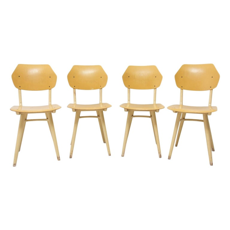 Midcentury Dining Chairs TON, Set of Four, 1960s For Sale
