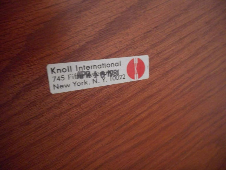 American Midcentury Dining or Conference Table by Knoll For Sale