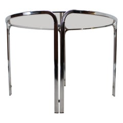 Midcentury Dinning Chrome Table, Italy, 1960s