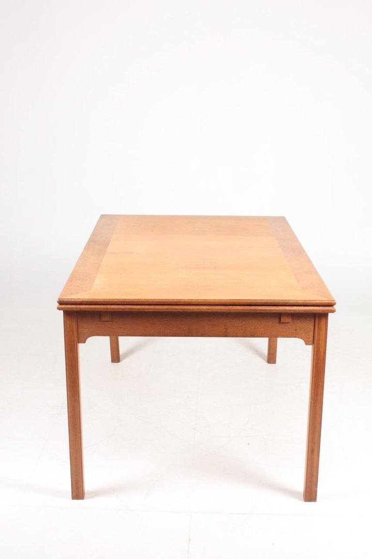 Midcentury Dining Table in Patinated Oak Designed by Kaare Klint, 1950s 4