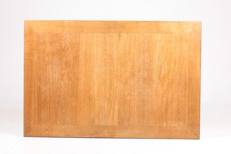 Midcentury Dining Table in Patinated Oak Designed by Kaare Klint, 1950s 6