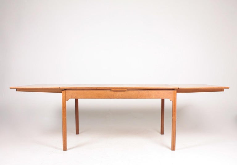 Scandinavian Modern Midcentury Dining Table in Patinated Oak Designed by Kaare Klint, 1950s