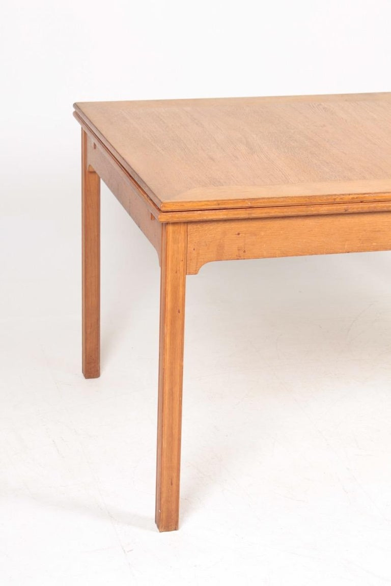 Mid-20th Century Midcentury Dining Table in Patinated Oak Designed by Kaare Klint, 1950s