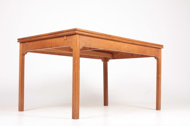 Midcentury Dining Table in Patinated Oak Designed by Kaare Klint, 1950s 2