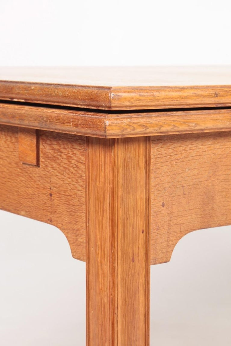 Midcentury Dining Table in Patinated Oak Designed by Kaare Klint, 1950s 3