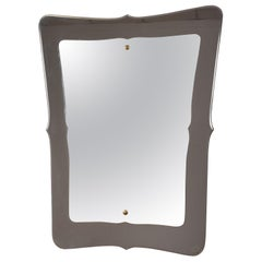 Midcentury Double-Layered Italian Wall Mirror in the style of Fontana Arte 1950s