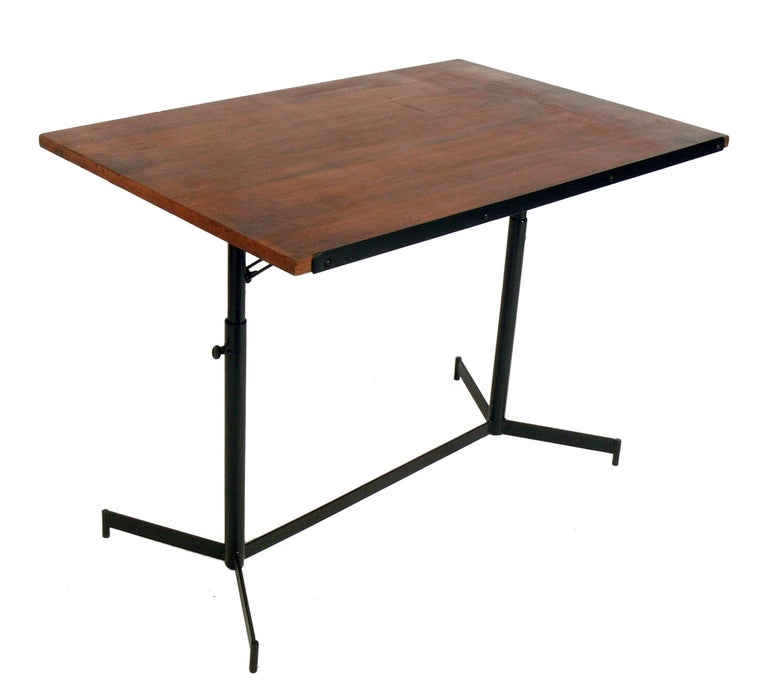 Enameled Midcentury Drafting Table or Desk For Sale