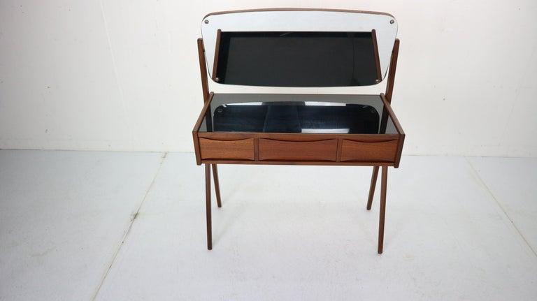 Mirror Midcentury Dressing, Make Up Table by Arne Vodder, 1950s, Denmark For Sale