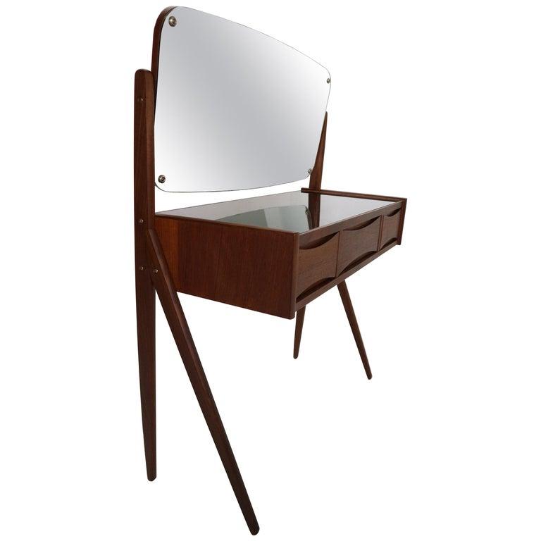 Midcentury Dressing, Make Up Table by Arne Vodder, 1950s, Denmark For Sale