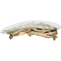 Midcentury Driftwood Coffee Table