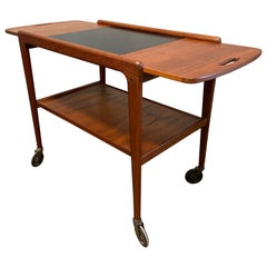 Midcentury Drop-Leaf Server in Teak