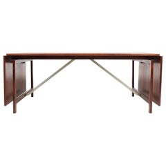 Midcentury Drop-Leaf Table in Rosewood in the Manner of Hans Wegner