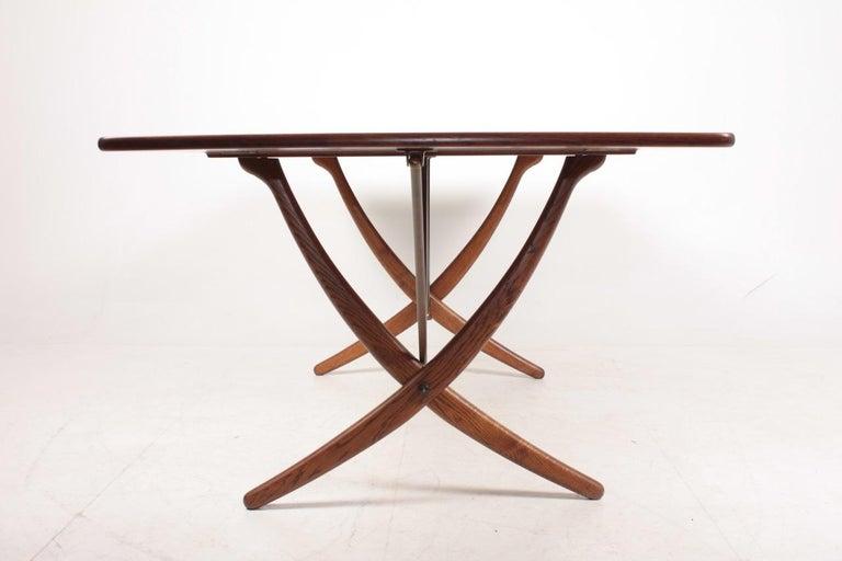 Midcentury Drop-Leaf Table in Teak Model l AT-304 by Hans Wegner, 1950 For Sale 8