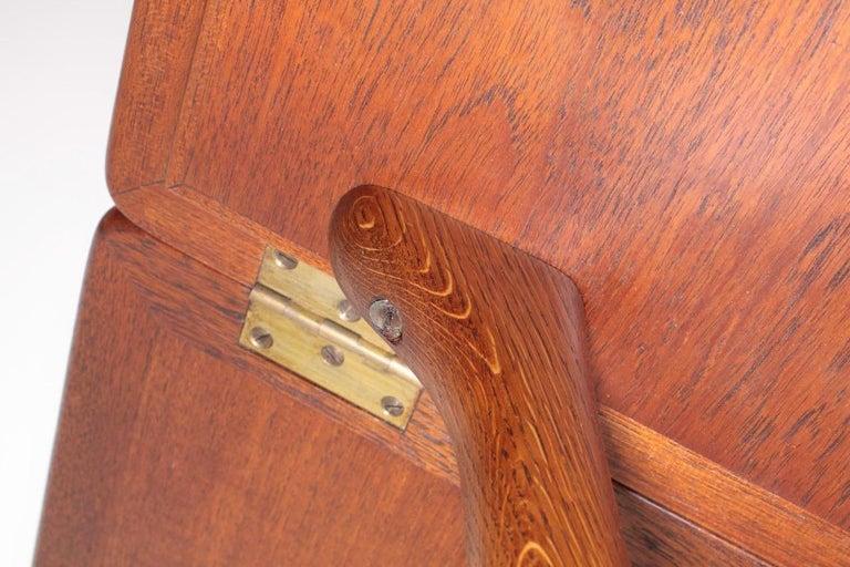 Midcentury Drop-Leaf Table in Teak Model l AT-304 by Hans Wegner, 1950 For Sale 9