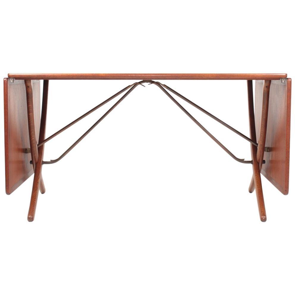 Midcentury Drop-Leaf Table in Teak Model l AT-304 by Hans Wegner, 1950
