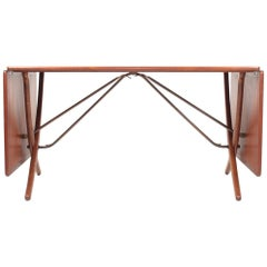 Midcentury Drop-Leaf Table in Teak Model l AT-304 by Hans Wegner, 1950