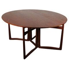 Midcentury Drop-Leaf Teak Dining Table by Peter Hvidt, circa 1960