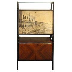 Midcentury Dry Bar Cabinet, Cocktail Bar Cabinet, Vittorio Dassi, Paolo Buffa