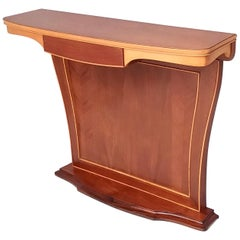 Midcentury Wooden Console Table with Drawer, Italy