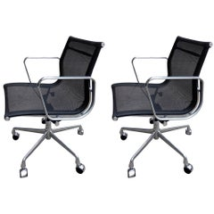 Midcentury Eames Aluminium Group Chairs for Herman Miller