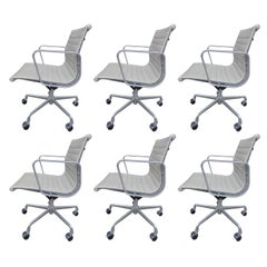 Midcentury Eames Aluminum Group Management Chairs for Herman Miller