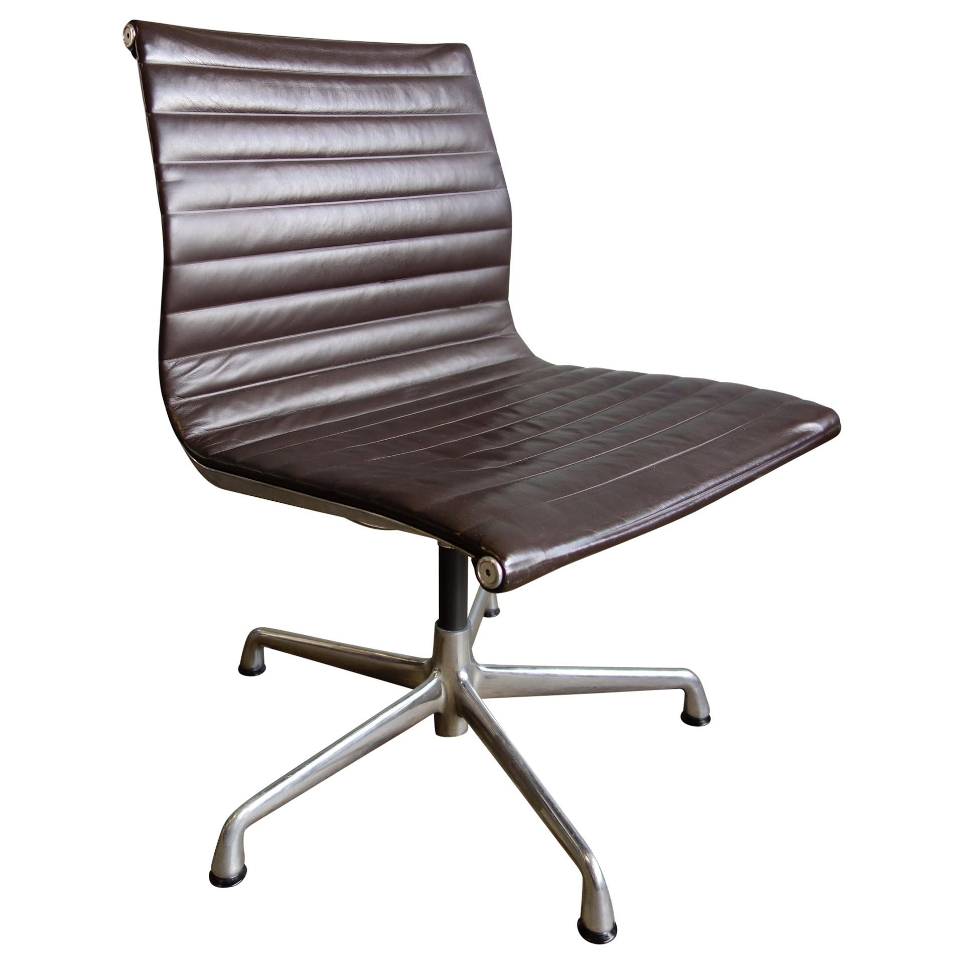 Midcentury Eames Aluminum Group Side Chair for Herman Miller