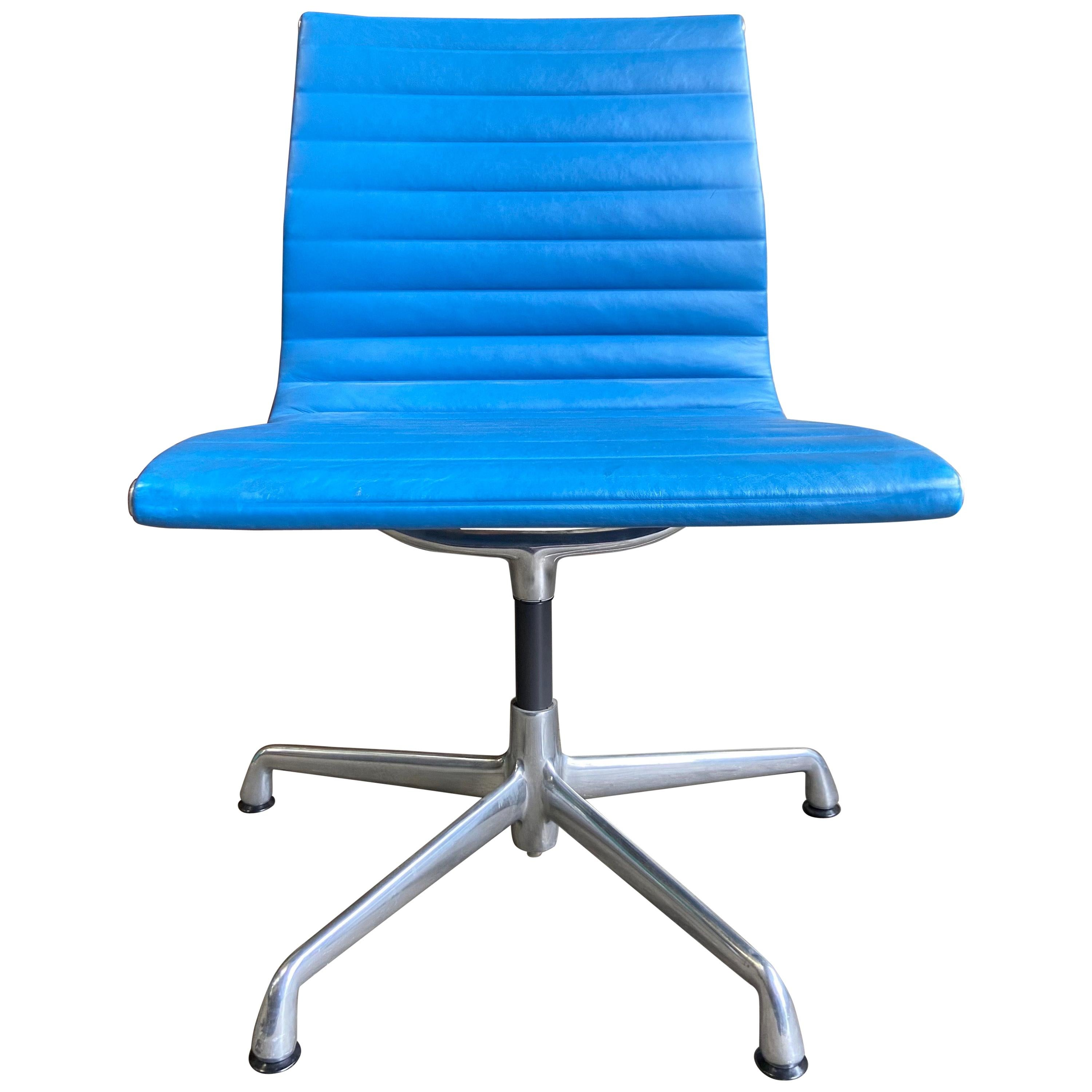 Midcentury Eames Aluminum Group Side Chairs for Herman Miller