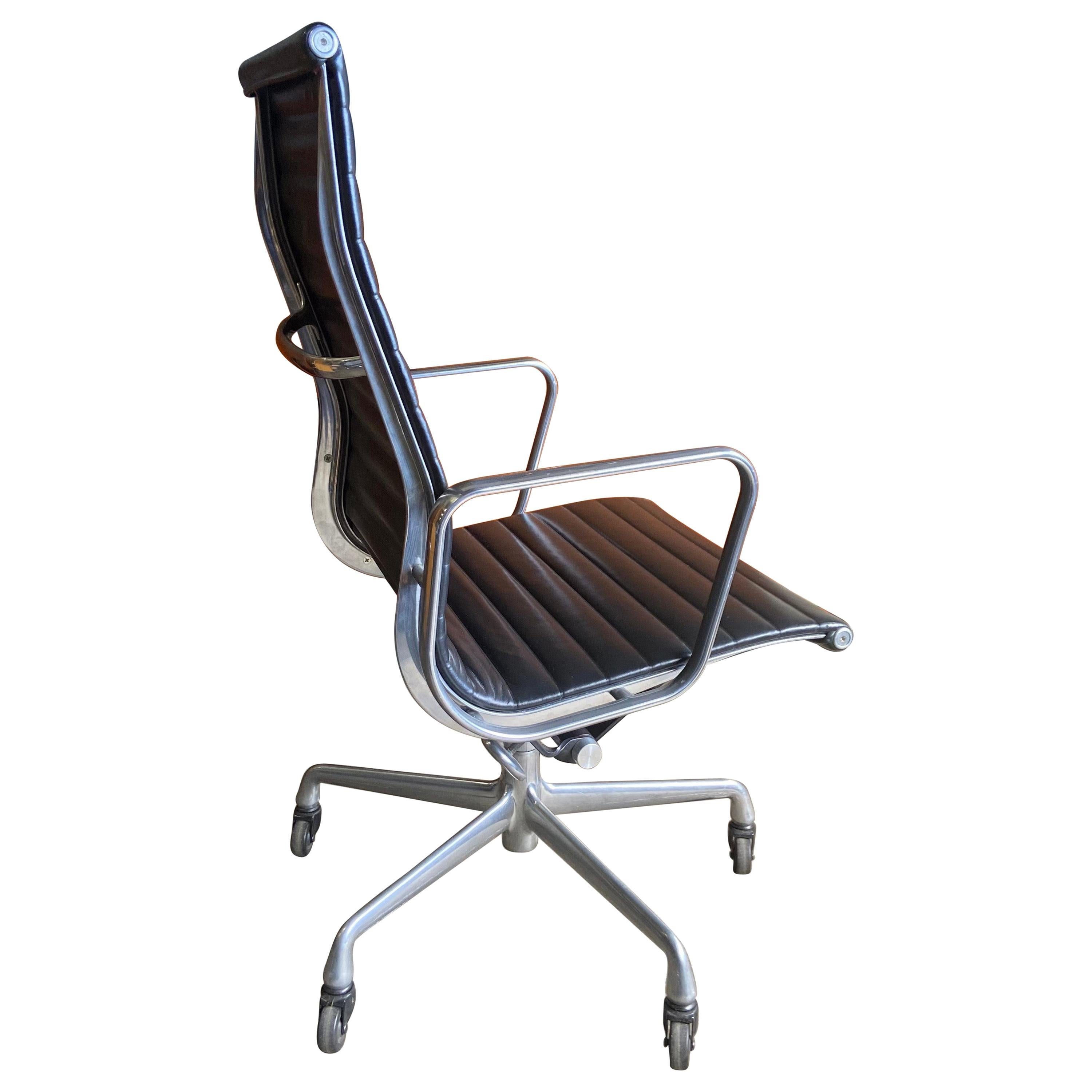 Midcentury Eames for Herman Miller Mid-Century High Back Aluminum Group Chairs