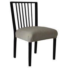 Midcentury Ebonized Spindle Back Side Chair