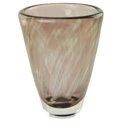 Midcentury Edvin Öhrström for Orrefors Sweden Graal Glass Vase