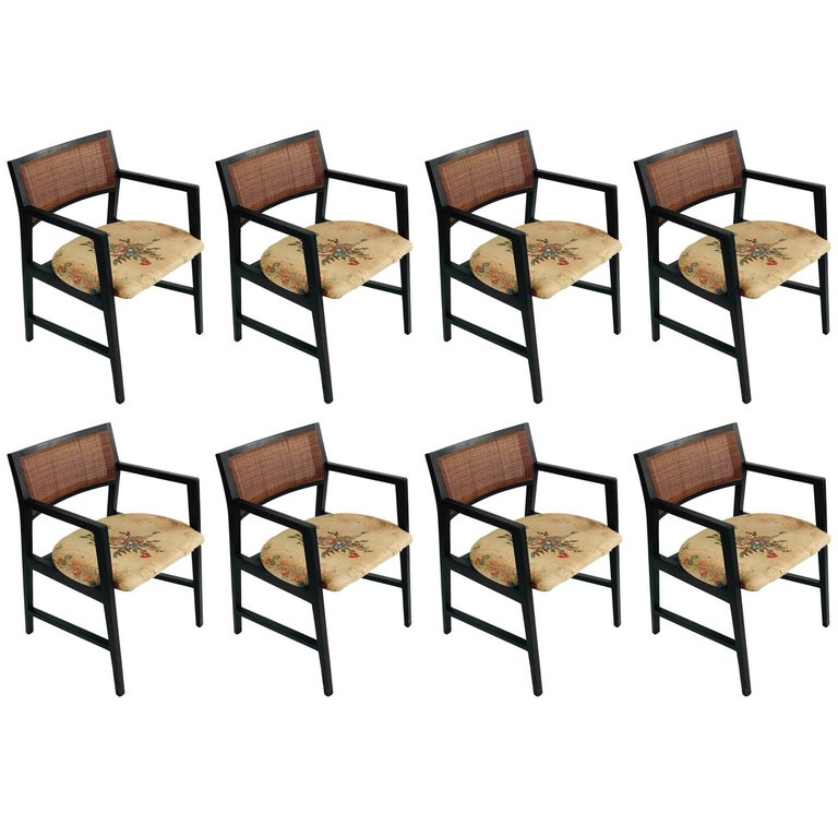 Midcentury Edward Wormley for Dunbar Dining Chairs SET OF EIGHT