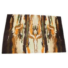 Midcentury Ege Rya Scandinavian Abstract Rug / Carpet, 1970s
