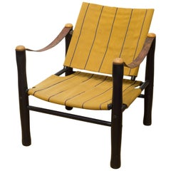 Midcentury Elias Svedberg for Nordiska Kompaniet Trivia Safari Chair circa 1950s