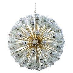 Midcentury Emil Stejnar Sputnik Fiber and Brass Viennese Suspensions Lamp