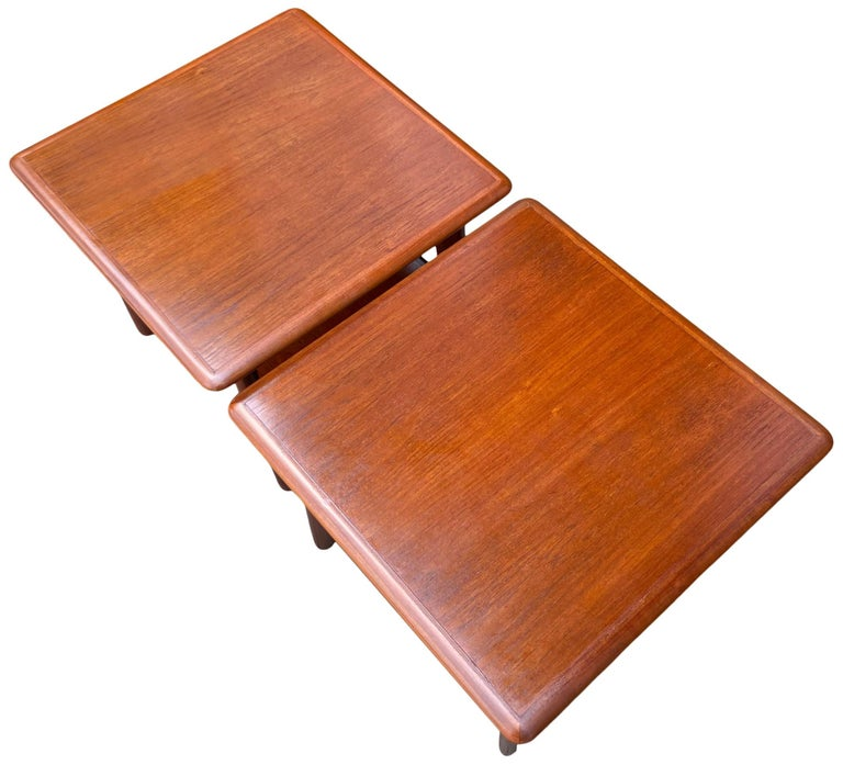 Danish Midcentury End tables or Nightstands by Svend Madsen For Sale