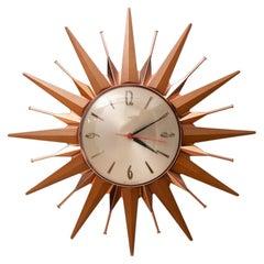 Midcentury English Metamec Starburst Quartz Clock