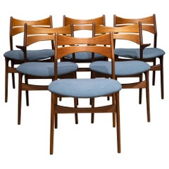 Midcentury Eric Buch Rosewood and Teak Dining Chairs, circa 1960