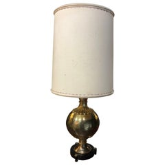 Midcentury Etched Brass Urn Marbro Table Lamp