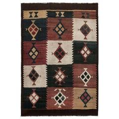 Midcentury Etno Turkish Kilim Rug