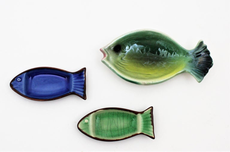 Midcentury European Ceramic Fishes Multi-Color Wall Composition For Sale 5